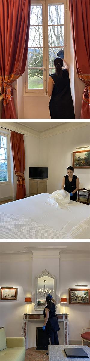 Ménage chambre d'hotel